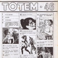 Cómics: TOTEM Nº 46 - MANARA - TEULE - RODOLPHE Y VERN - DINO BATTAGLIA - CAZA - MONTELLIER - FONTANARROSA. Lote 33682827