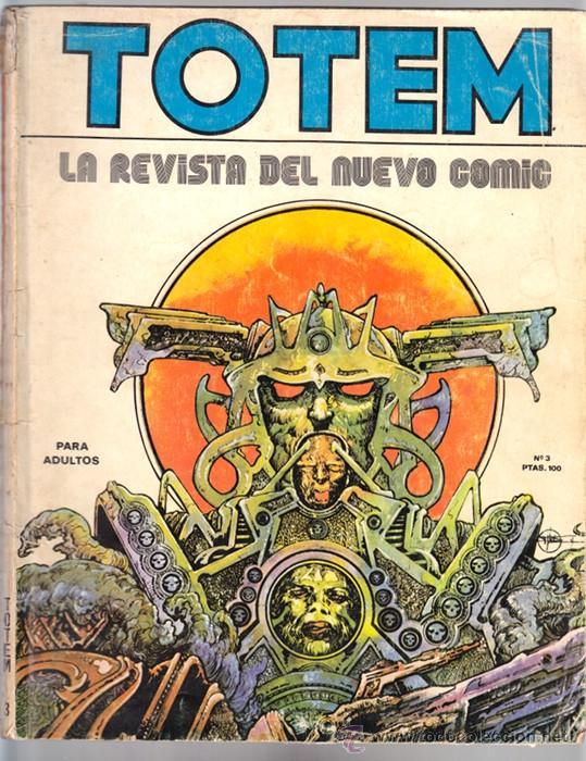 TOTEM 3 - DRUILLET, MOEBIUS, CREPAX, HUGO PRATT, BRETECHER... - NUEVA FRONTERA 1977 (Tebeos y Comics - Nueva Frontera)