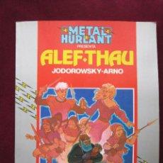 Cómics: COLECCION HUMANOIDES Nº 16. ALEF THAU - ARNO / JODOROWSKY. METAL HURLANT. EUROCOMIC. Lote 41029693