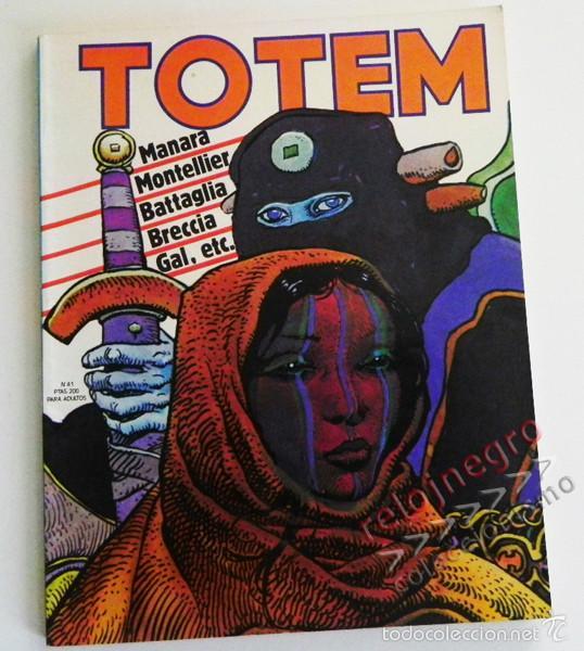 TÓTEM Nº 41 - CÓMIC PARA ADULTOS - NUEVA FRONTERA - AÑOS 70 - MANARA - BATTAGLIA - BRECCIA - MOEBIUS (Tebeos y Comics - Nueva Frontera)