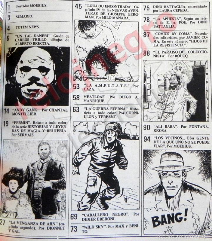 Cómics: TÓTEM Nº 41 - CÓMIC PARA ADULTOS - NUEVA FRONTERA - AÑOS 70 - MANARA - BATTAGLIA - BRECCIA - MOEBIUS - Foto 2 - 58231279