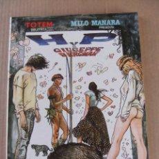 Cómics: BIBLIOTECA TOTEM MILO MANARA PRESENTA H.P. Y GIUSEPPE BERGMAN EDITORIAL NUEVA FRONTERA. Lote 94552631
