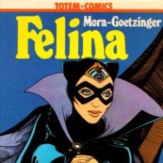 Comics: FELINA. MORA-GOETZINGER. COLECCION VERTIGO Nº 2. TOTEM- COMICS. AÑO 1981. Lote 113064019