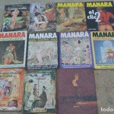 Cómics: LOTE DE ONCE COMIICS DE MILO MANARA. Lote 98087059