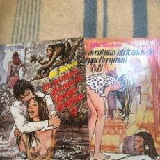 Comics: BIBLIOTECA TOTEM NºS 24 Y 25 - LAS AVENTURAS AFRICANAS DE GIUSEPPE BERGMAN I & II. Lote 111405083