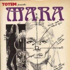 Cómics: MARA - ENRIC SIO - EDITORIAL NUEVA FRONTERA 1ª EDICION 1980 PROLOGO DE CARLOS SAURA. Lote 136463686