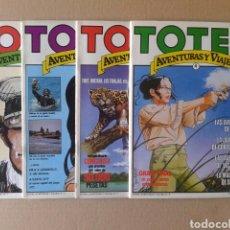 Cómics: LOTE TOTEM AVENTURAS Y VIAJES / COLECCIÓN COMPLETA: NÚMEROS 1-2-3-4 (NUEVA FRONTERA, 1983).. Lote 139180010