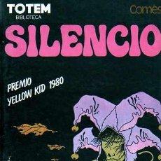 Cómics: BIBLIOTECA TOTEM SILENCIO DE DIDIER COMÉS PREMIO YELLOW KID 1980 . Lote 155480906