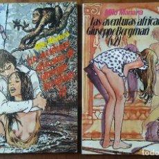 Cómics: TOTEM BIBLIOTECA - TOMOS 1 Y 2 - LAS AVENTURAS AFRICANAS DE GIUSEPPE BERGMAN- MILO MANARA. Lote 157298746