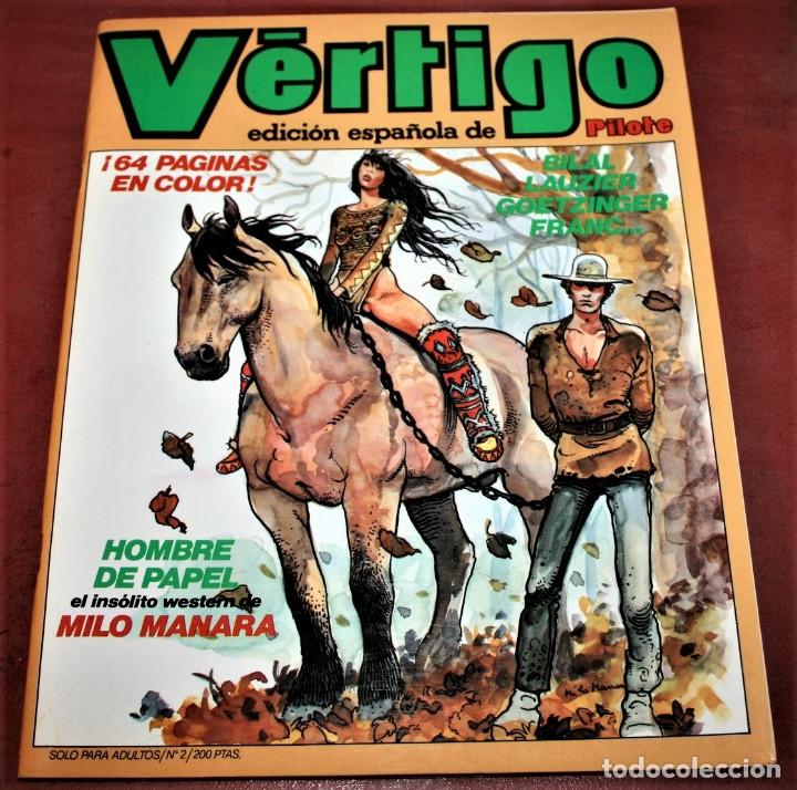 VÉRTIGO EDICIÓN ESPAÑOLA DE PILOTE Nº 2 - NUEVA FRONTERA 1982 (Tebeos y Comics - Nueva Frontera)