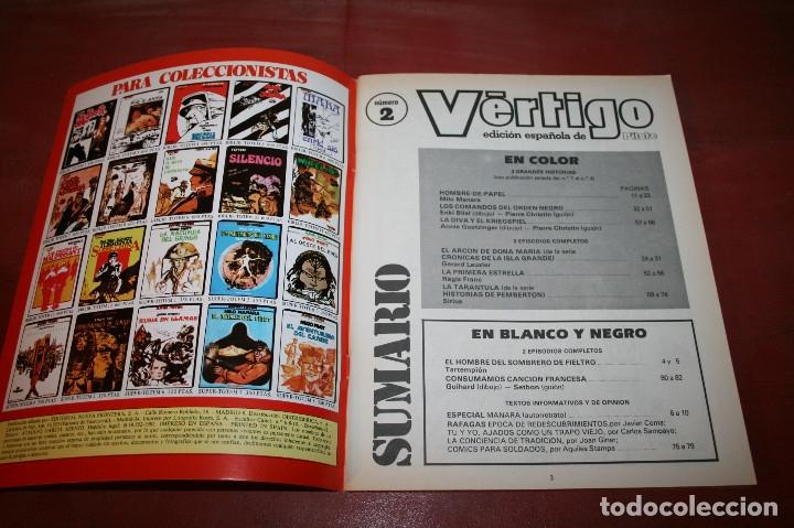 Cómics: VÉRTIGO EDICIÓN ESPAÑOLA DE PILOTE Nº 2 - NUEVA FRONTERA 1982 - Foto 2 - 182728826