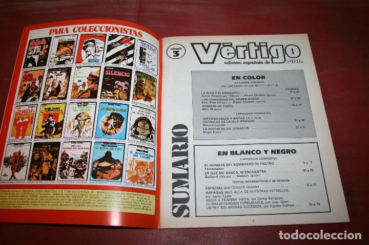 Cómics: VÉRTIGO EDICIÓN ESPAÑOLA DE PILOTE Nº 3 - NUEVA FRONTERA 1982 - Foto 2 - 182728901