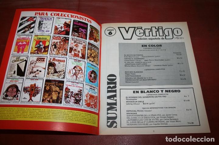 Cómics: VÉRTIGO EDICIÓN ESPAÑOLA DE PILOTE Nº 6 - NUEVA FRONTERA 1982 - Foto 2 - 182729225