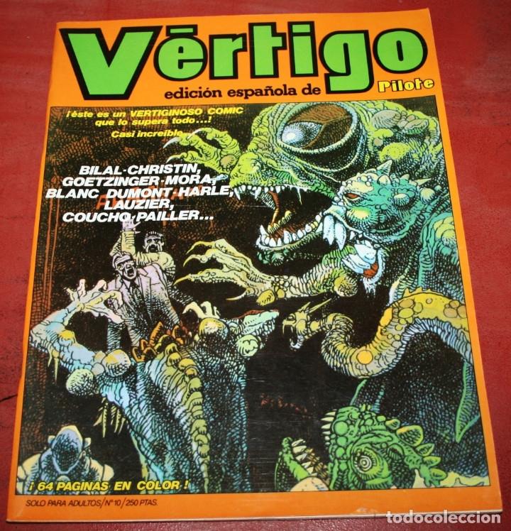 VÉRTIGO EDICIÓN ESPAÑOLA DE PILOTE Nº 10 - NUEVA FRONTERA 1982 (Tebeos y Comics - Nueva Frontera)