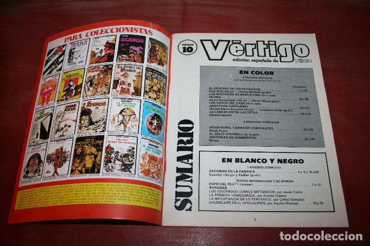 Cómics: VÉRTIGO EDICIÓN ESPAÑOLA DE PILOTE Nº 10 - NUEVA FRONTERA 1982 - Foto 2 - 182729540