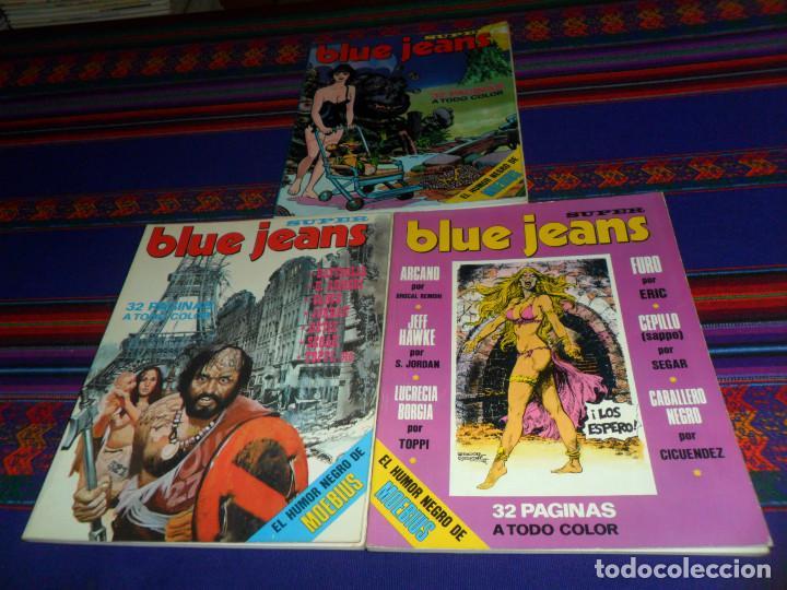 EL HUMOR NEGRO DE MOEBIUS, SUPER BLUE JEANS NºS 17 18 19. NUEVA FRONTERA 1977. BE. (Tebeos y Comics - Nueva Frontera)