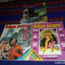 Cómics: EL HUMOR NEGRO DE MOEBIUS, SUPER BLUE JEANS NºS 17 18 19. NUEVA FRONTERA 1977. BE.. Lote 183454605