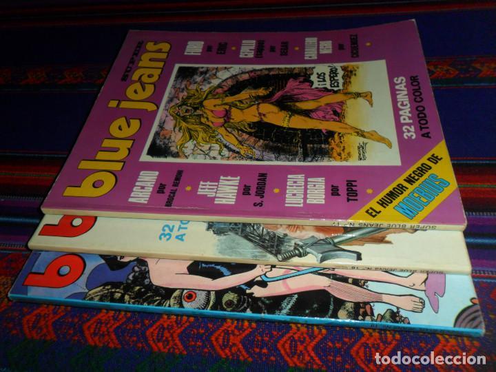 Cómics: EL HUMOR NEGRO DE MOEBIUS, SUPER BLUE JEANS NºS 17 18 19. NUEVA FRONTERA 1977. BE. - Foto 2 - 183454605