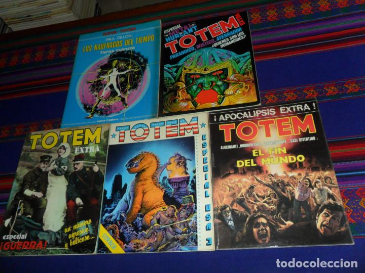 TOTEM EXTRA 7 FIN DEL MUNDO, 8 ESPECIAL USA 3, 9 GUERRA, 11 METAL HURLANT. REGALO SUPER-TOTEM Nº 2. (Tebeos y Comics - Nueva Frontera)