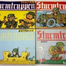 Cómics: BONVI - LOTE DE 4 STURMTRUPPEN EXTRA Nº 1, 2, 3 Y 4 - COLECCION COMPLETA - NUEVA FRONTERA 1982. Lote 183819992