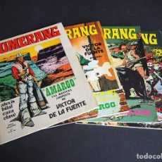 Cómics: BUMERANG. LOTE CON LOS 4 PRIMEROS Y ÚNICOS NÚMEROS. NUEVA FRONTERA 1978. Lote 196149820