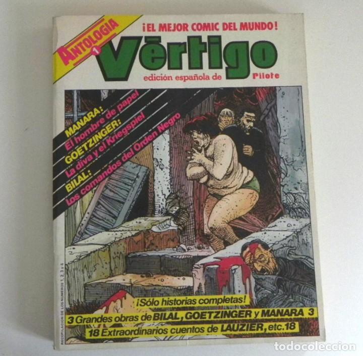 ANTOLOGÍA 1 VÉRTIGO NÚMEROS 1 2 3 4 CÓMIC PARA ADULTOS ED. ESP. DE PILOTE ESPECIAL MANARA GOETZINGER (Tebeos y Comics - Nueva Frontera)