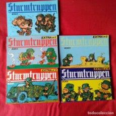 Cómics: 5 STURMTRUPPEN: 1, EXTRA 1, 2, 3 Y 4. BONVI. NUEVA FRONTERA 1982. Lote 199751927