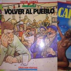 Cómics: * TOTEM COMICS - COLECCIÓN VÉRTIGO * LOTE Nº 6 - 7 - 9 * NUEVA FRONTERA 1982 *. Lote 210474973