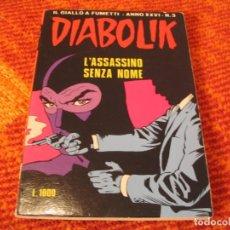 Cómics: DIABOLIK Nº 3 L´ASSASSINO SENZA NOME EN ITALIANO. Lote 213883066
