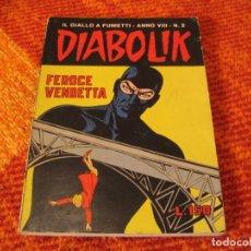 Cómics: DIABOLIK Nº 2 FEROCE VENDETTA EN ITALIANO. Lote 213883198