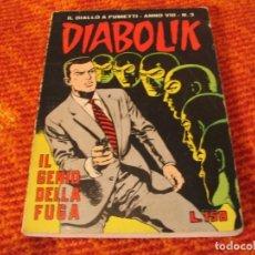 Cómics: DIABOLIK Nº 3 IL GENIO DELLA FUGA EN ITALIANO. Lote 213885832