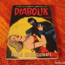 Cómics: DIABOLIK Nº 6 PERLE INSANGUINATE EN ITALIANO. Lote 213886200