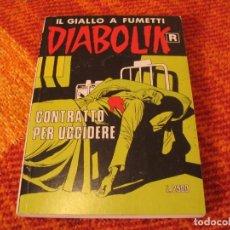 Cómics: DIABOLIK Nº 442 CONTRATTO PER UCCIDERE EN ITALIANO. Lote 213886326