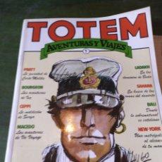 Cómics: LOTE 2 COMIC DE TOTEM, AVENTURAS Y VIAJES N. 1Y2 PARA ADULTOS POR HUGO PRATT. Lote 222425093