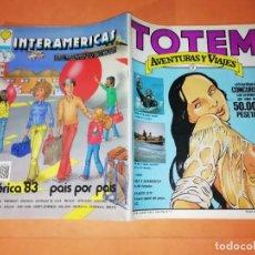 Cómics: TOTEM AVENTURAS Y VIAJES Nº 2. EDITORIAL NUEVA FRONTERA 1983.. Lote 224220130