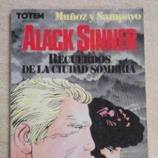 Comics : BIBLIOTECA TOTEM 23: ALACK SINNER RECUERDOS DE LA CIUDAD SOMBRÍA. Lote 239898580
