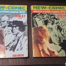 Cómics: COMIC - NEW COMIC 2 Y 4 - BLUE JEANS - FETICHE - A. BRECCIA, E. BRECCIA, CARLOS TRILLO, BATTAGLIA. Lote 243574310