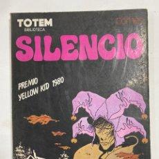 Fumetti: SILENCIO. COMES. TOTEM BIBLIOTECA. PREMIO YELLOW KID 1980. EDITORIAL NUEVA FRONTERA. Lote 248666300