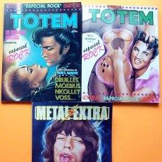 Cómics: TOTEM ROCK 1 + TOTEM ROCK 2 + METAL ROCK 82 - NUEVA FRONTERA / EUROCOMIC - NUEVOS - VER INDICES. Lote 249375290