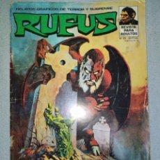 Cómics: RUFUS. TERROR Y SUSPENSE. N° 30-1973.EDITORIAL NUEVA FRONTERA. EN BUEN ESTADO DE CONSERVACIÓN.. Lote 265955783
