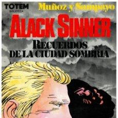 Comics: BIBLIOTECA TOTEM - ALACK SINNER- RECUERDOS DE LA CIUDAD SOMBRÍA.NUEVA FRONTERA. EXCELENTE.. Lote 272904358