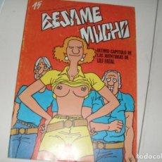 Cómics: BESAME MUCHO 15.PRODUCCIONES EDITORIALES,AÑO 1982.. Lote 288972433