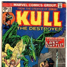 Cómics: KULL THE DESTROYER Nº 15 - AGOSTO 1974 MARVEL COMICS GROUP - ROBERT. Lote 19089920