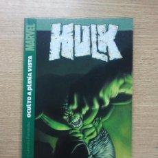 Cómics: HULK #1 OCULTO A PLENA VISTA. Lote 41273312