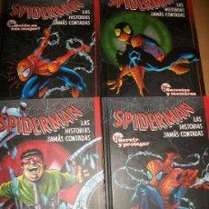 Cómics: LOTE 4 COMICS TAPA DURA - SPIDER MAN - SPIDERMAN - LAS HISTORIAS JAMAS CONTADAS - #1 A #4 - MARVEL. Lote 37412206