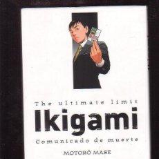 Cómics: IKIGAMI TOMO 1 / MOTORO MASE - PANINI MANGA. Lote 38633955