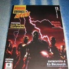 Cómics: PANINI COMICS NEWS Nº13 (¡¡LEER DESCRIPCION!!). Lote 40857929