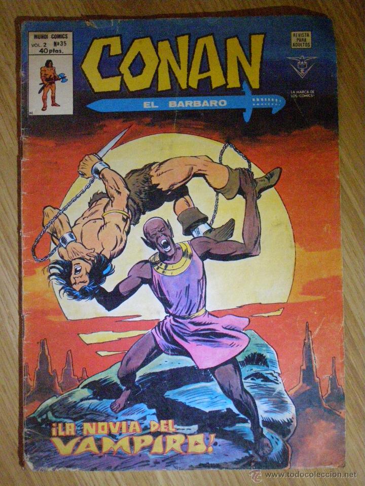 CONAN EL BARBARO - MUNDI-COMICS-MARVEL -V.2 - Nº 35 - LA NOVIA DEL VAMPIRO (Tebeos y Comics - Panini - Marvel Comic)