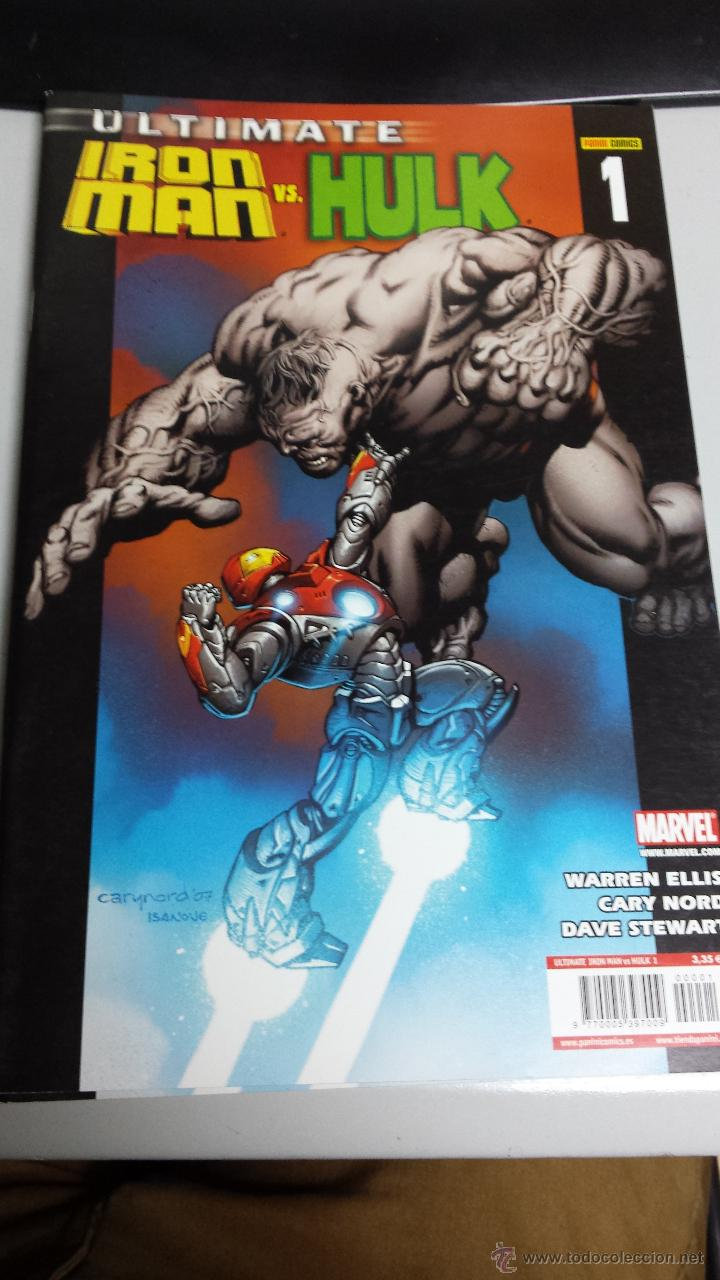 ULTIMATE IRON MAN VS HULK Nº 1 / WARREN ELLIS / MARVEL - PANINI (Tebeos y Comics - Panini - Marvel Comic)