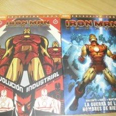 Cómics: 100% MARVEL IRON MAN LEGADO PANINI 2 TOMOS LA GUERRA DE LOS HOMBRES DE HIERRO REVOLUCION INDUSTRIAL. Lote 44334239